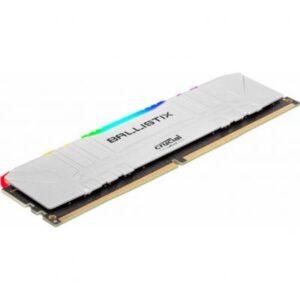 Модуль пам'яті для комп'ютера DDR4 8GB 3000 MHz Ballistix White RGB MICRON (BL8G30C15U4WL)