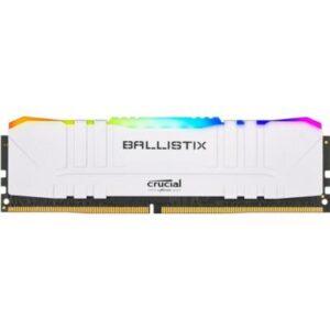 Модуль пам'яті для комп'ютера DDR4 8GB 3600 MHz Ballistix RGB White MICRON (BL8G36C16U4WL)