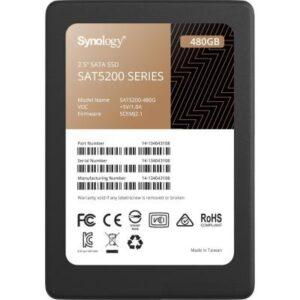 Накопичувач SSD для сервера 480GB SATA 2.5″ Synology (SAT5200-480G)