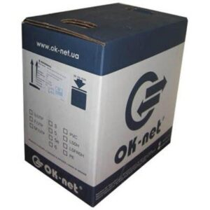 Кабель мережевий OK-Net UTP cat.5e 305м зовнішній (U/UTP-cat.5Е) (КПП-ВП (100) 4х2х0,51)