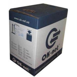 Кабель мережевий OK-Net UTP cat.5e 305м (U/UTP-cat.5Е) (КПВ-ВП (350) 4*2*0,50)